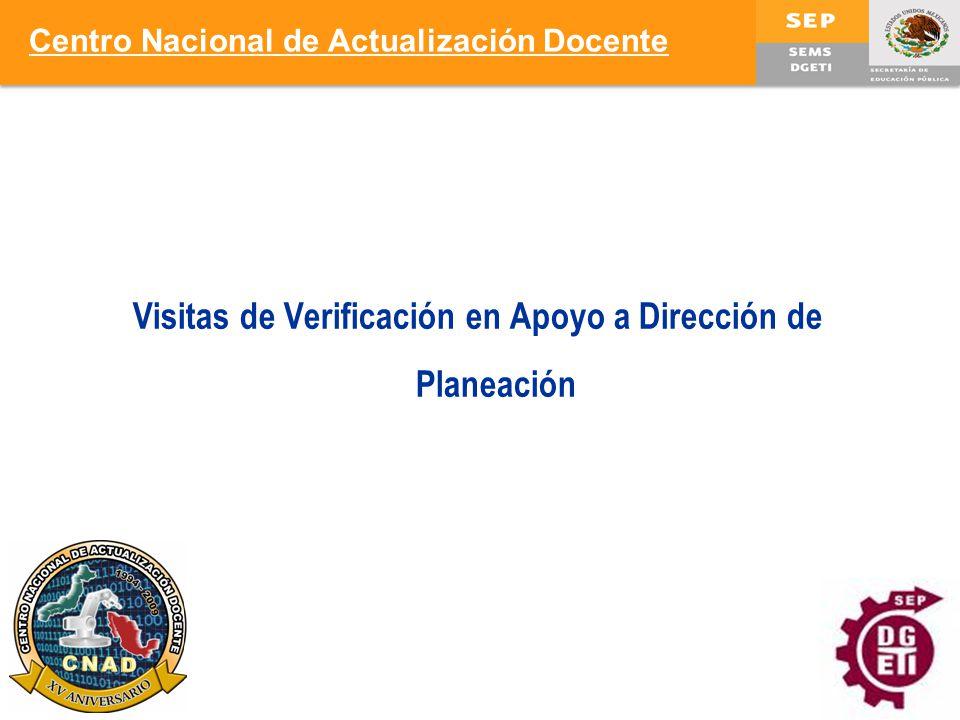 Visitas de Verificación en Apoyo a Dirección de Planeación