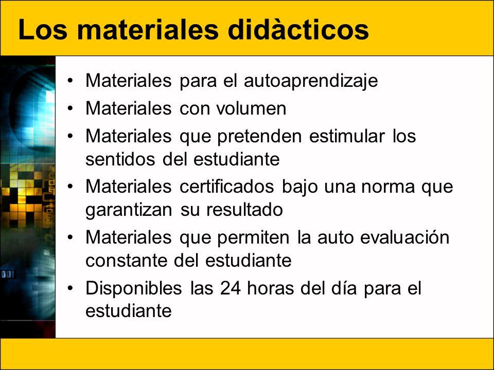 Los materiales didàcticos
