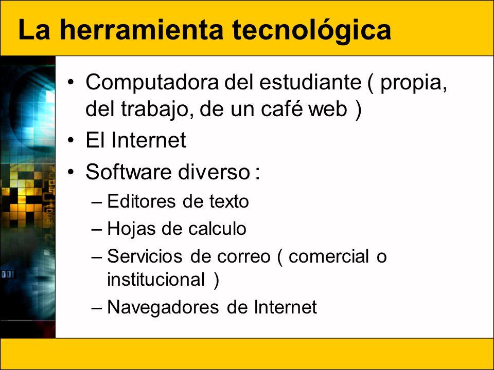La herramienta tecnológica