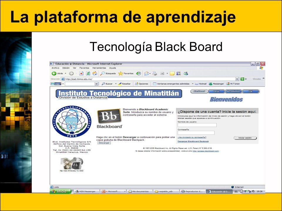 La plataforma de aprendizaje
