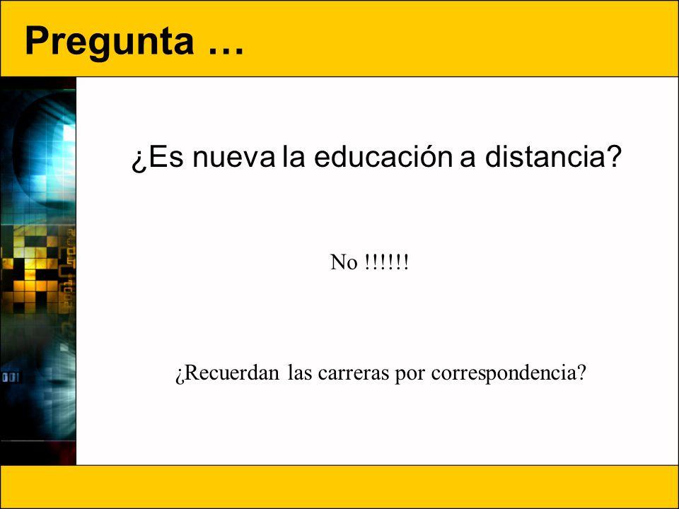 ¿Es nueva la educación a distancia