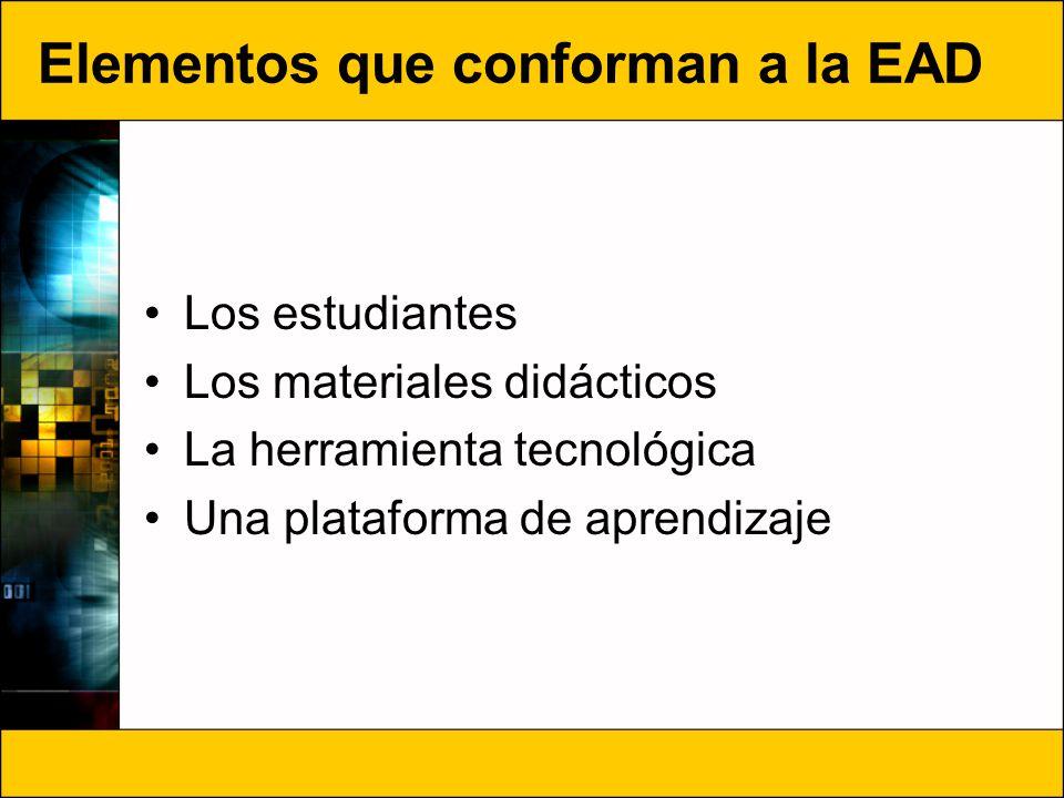 Elementos que conforman a la EAD