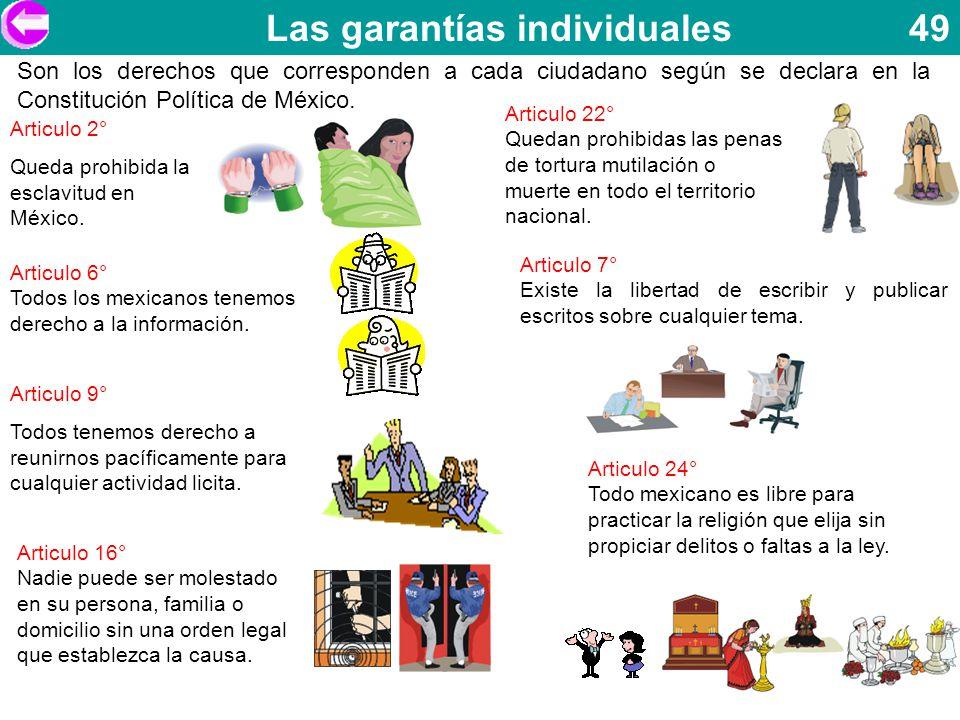 Las garantías individuales 49