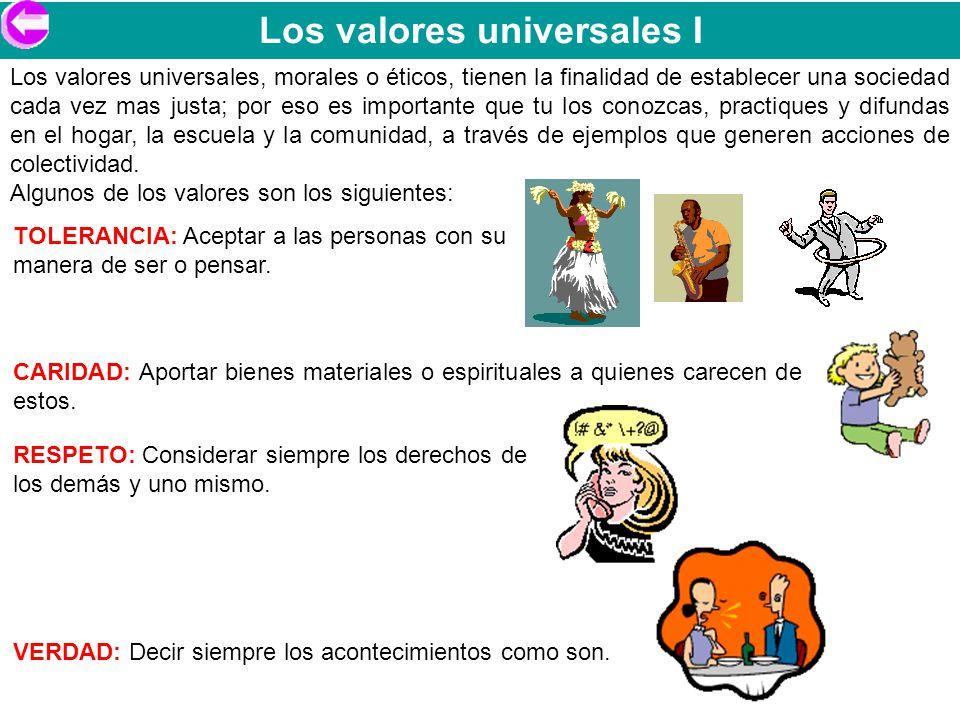 Los valores universales I
