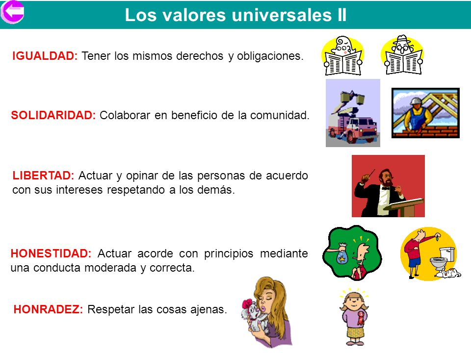 Los valores universales II