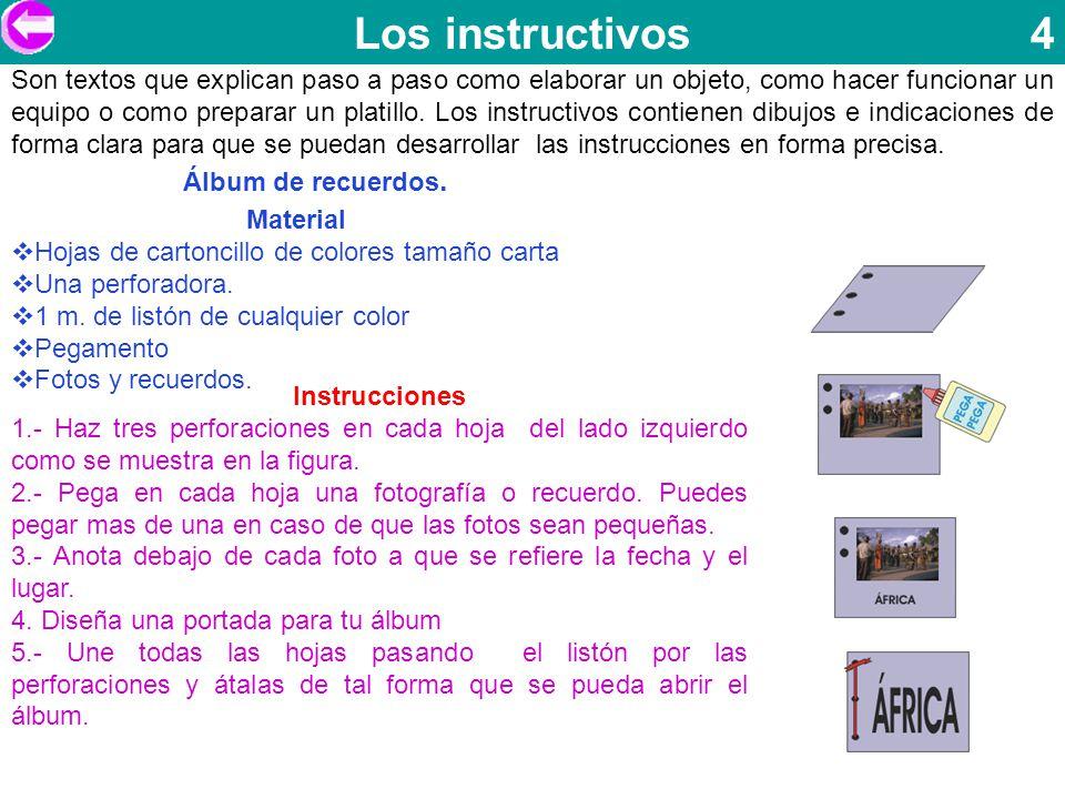 Los instructivos 4