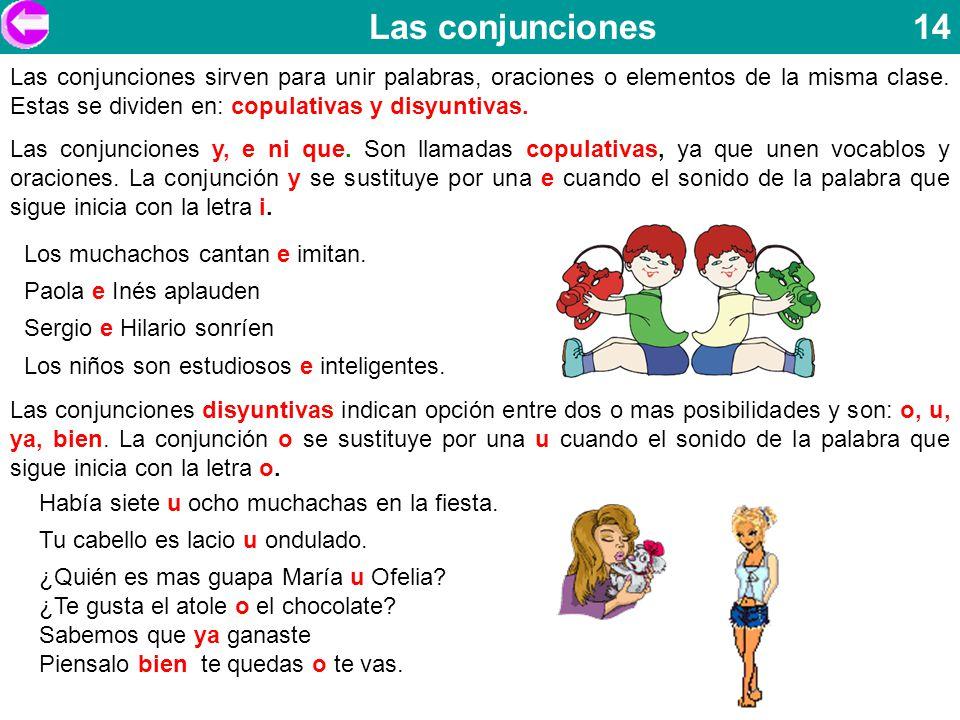 Las conjunciones 14