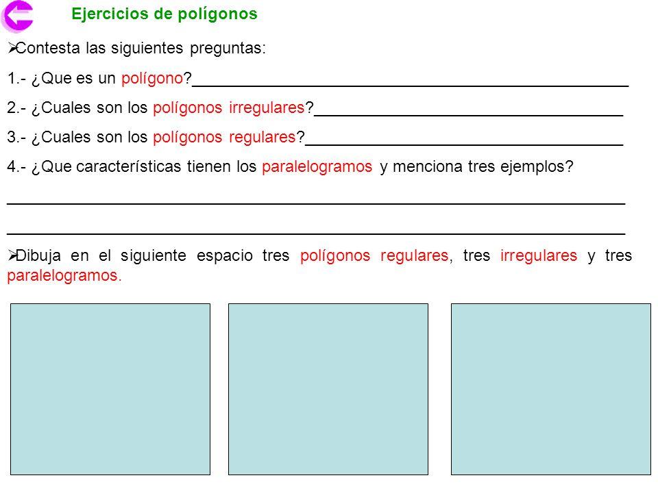 Ejercicios de polígonos