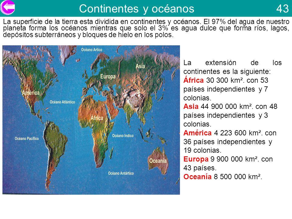 Continentes y océanos 43