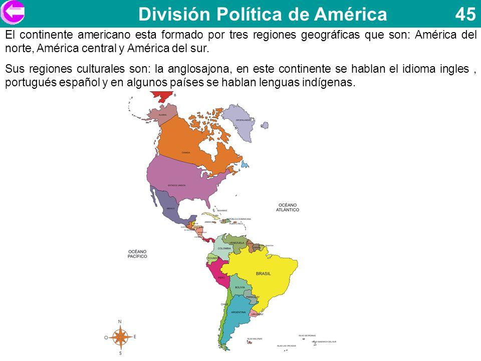 División Política de América 45