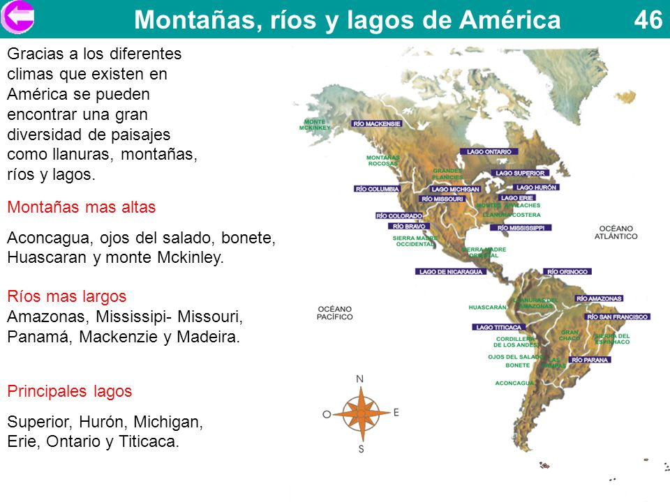 Montañas, ríos y lagos de América 46