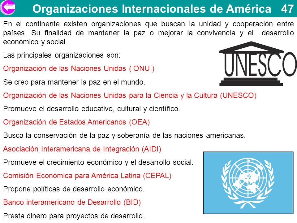 Organizaciones Internacionales de América 47