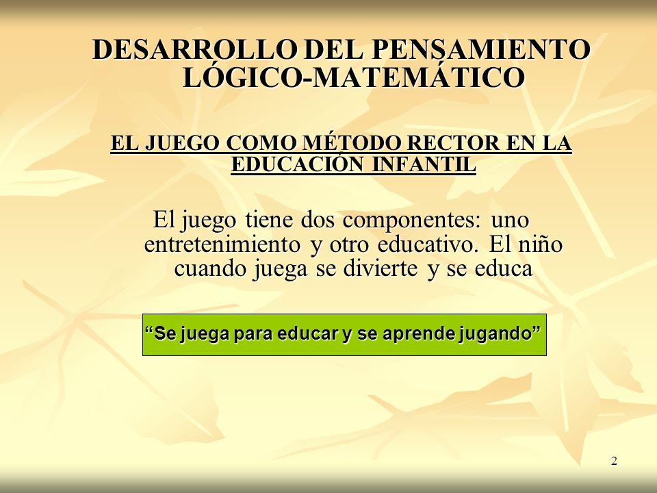 DESARROLLO DEL PENSAMIENTO LÓGICO-MATEMÁTICO