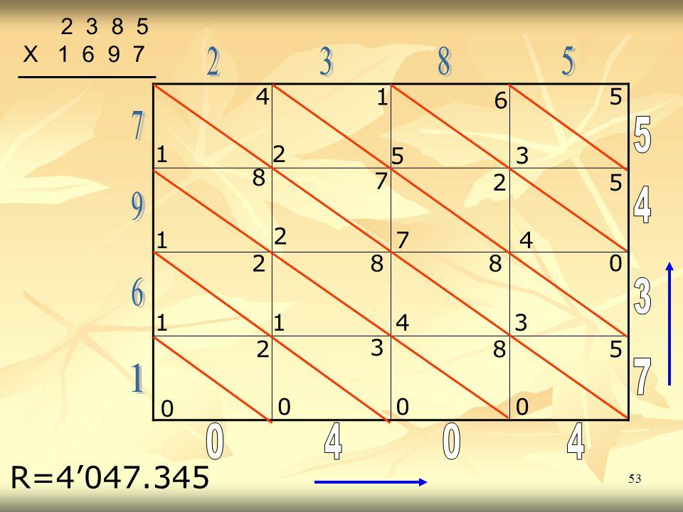 2 3 8 5 X 1 6 9 7. 2. 3. 8. 5. 4. 1. 5. 6. 7. 5. 1. 2. 5. 3. 8. 7. 2. 5. 4.