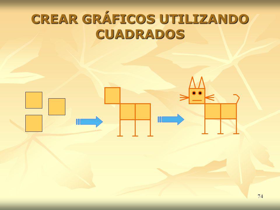 CREAR GRÁFICOS UTILIZANDO CUADRADOS