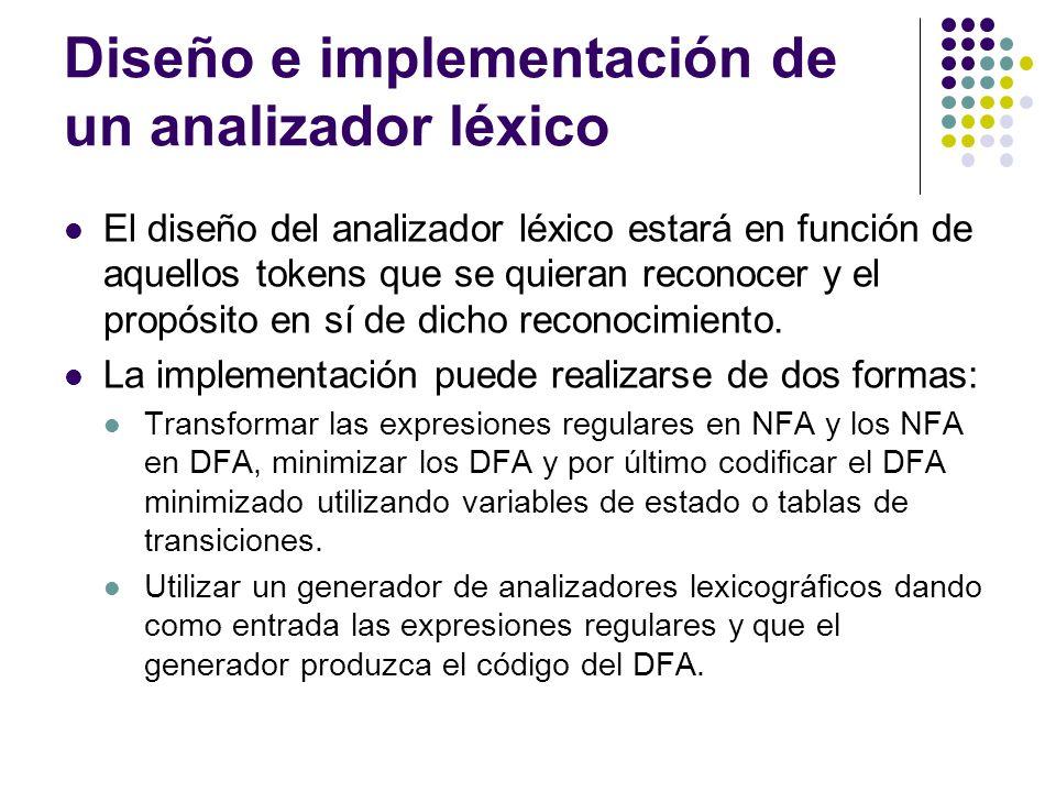 Diseño e implementación de un analizador léxico