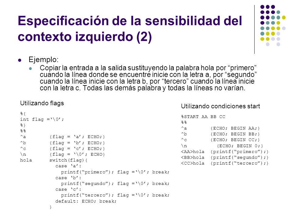 Especificación de la sensibilidad del contexto izquierdo (2)