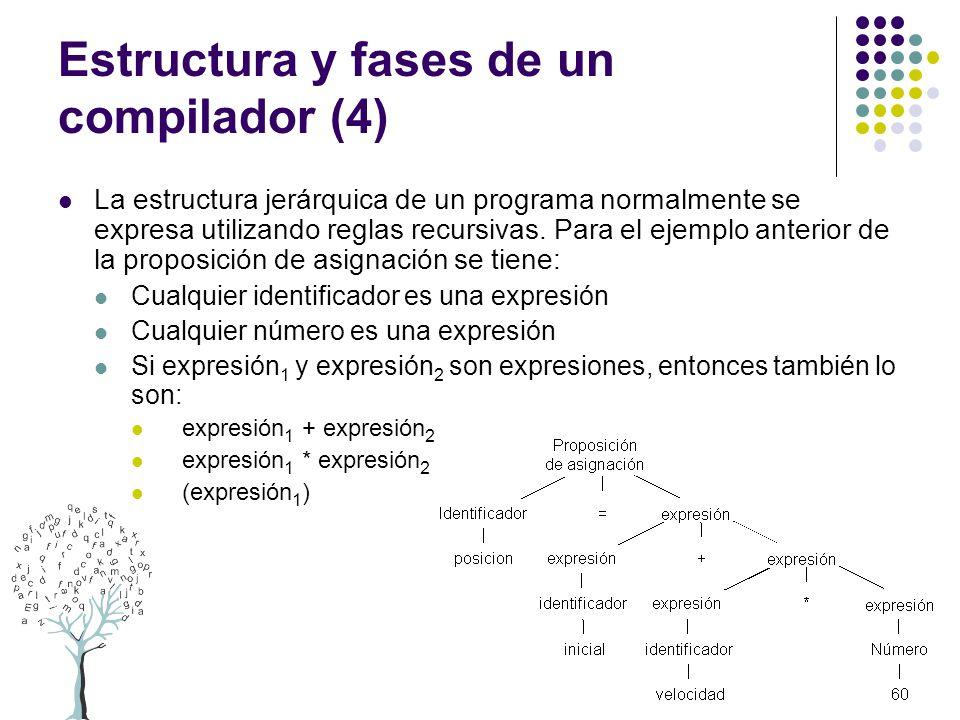 Estructura y fases de un compilador (4)