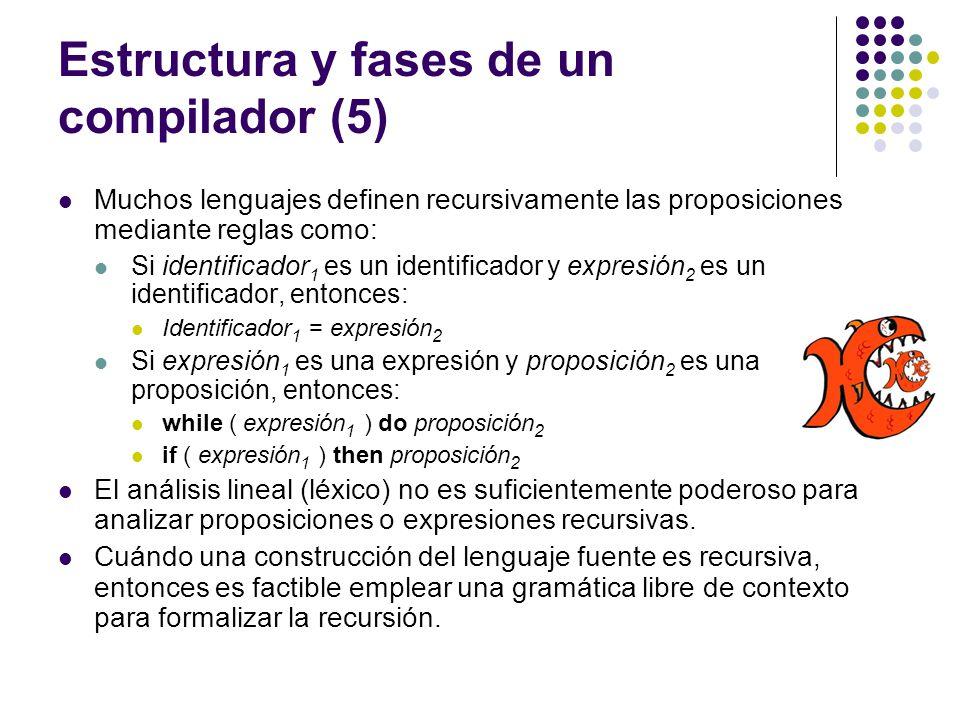 Estructura y fases de un compilador (5)