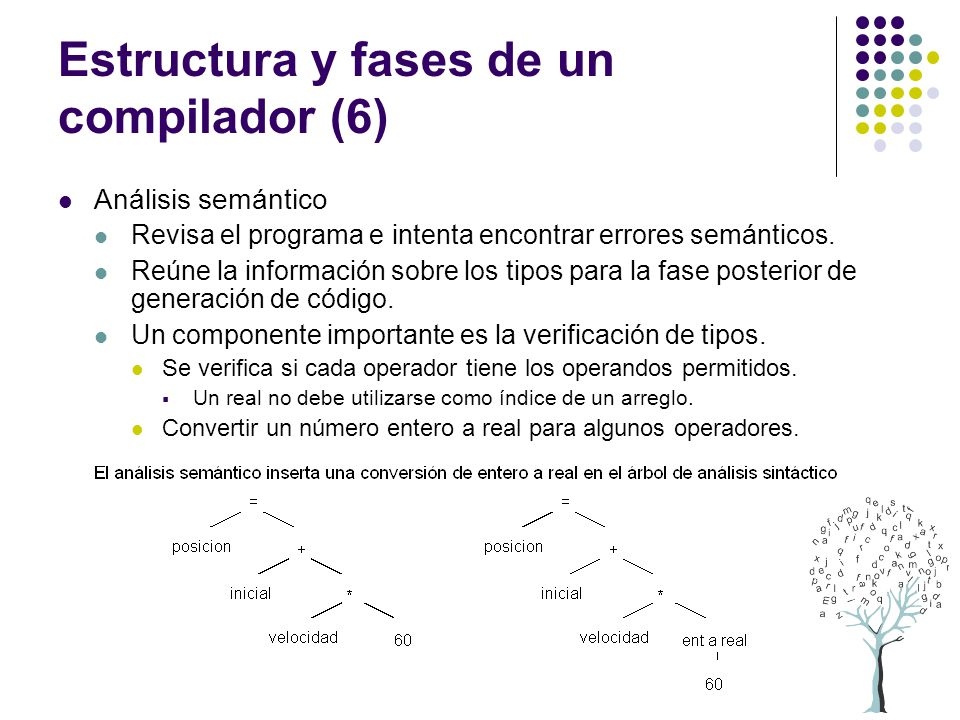 Estructura y fases de un compilador (6)