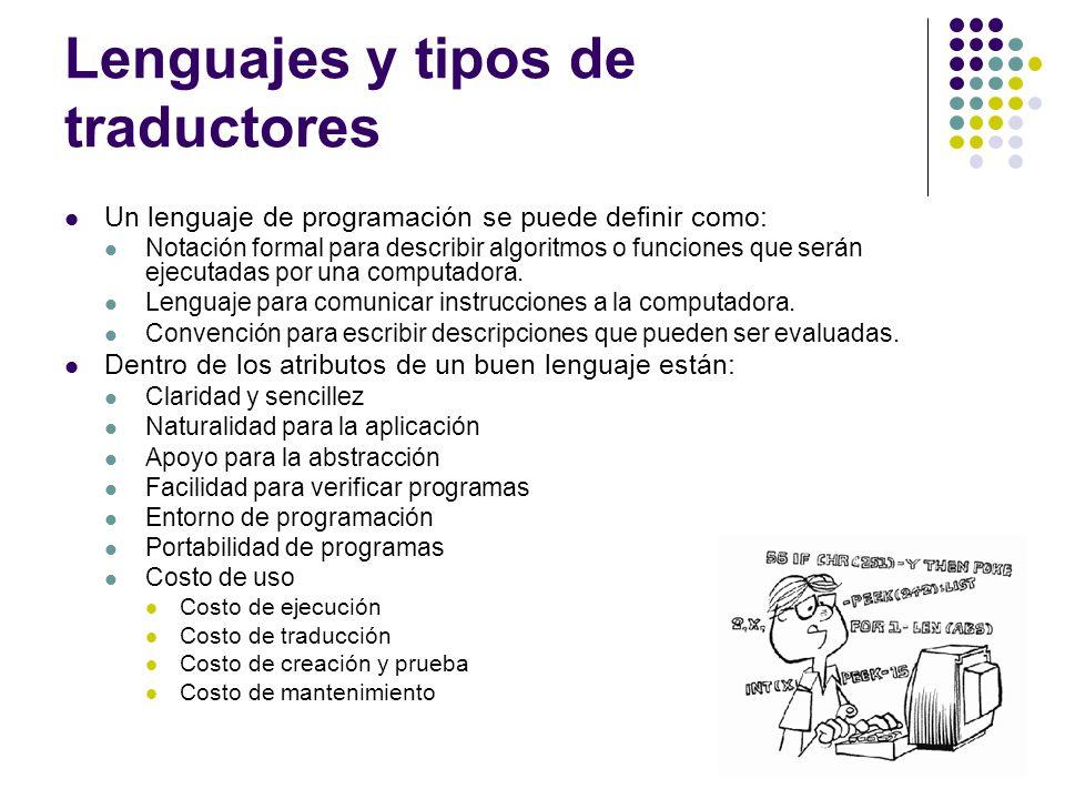 Lenguajes y tipos de traductores