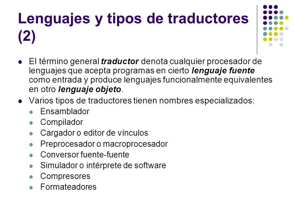 Lenguajes y tipos de traductores (2)