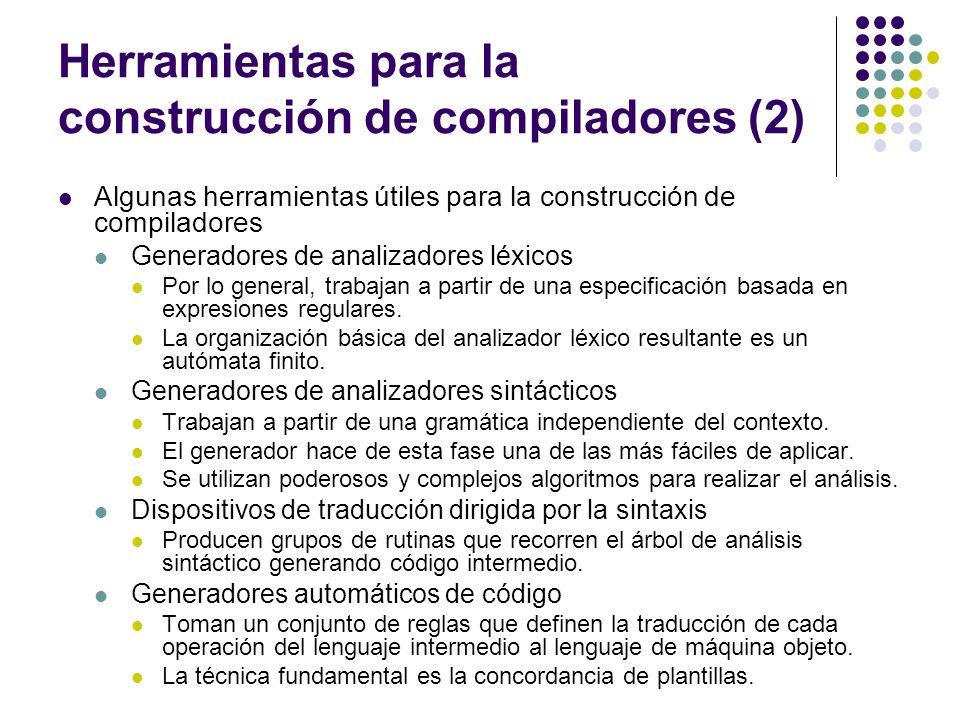 Herramientas para la construcción de compiladores (2)