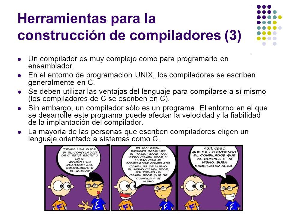 Herramientas para la construcción de compiladores (3)