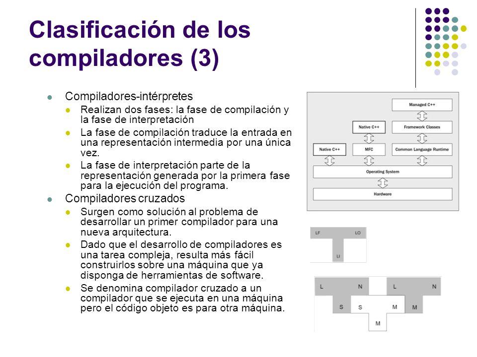 Clasificación de los compiladores (3)