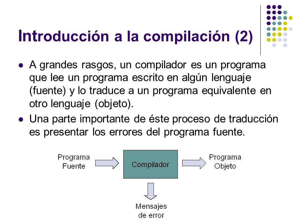 Introducción a la compilación (2)