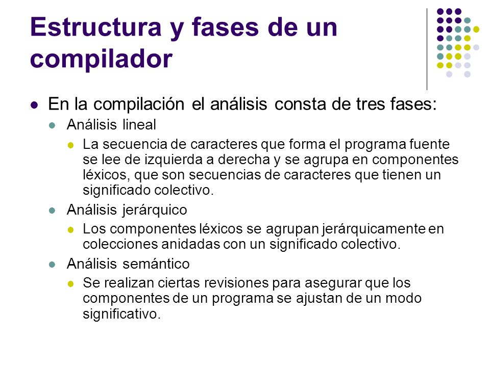 Estructura y fases de un compilador