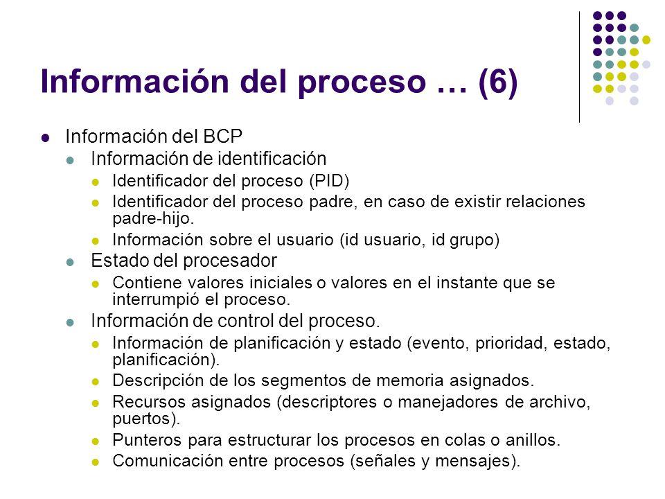 Información del proceso … (6)