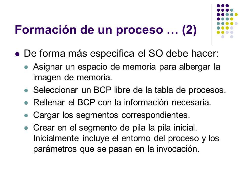 Formación de un proceso … (2)