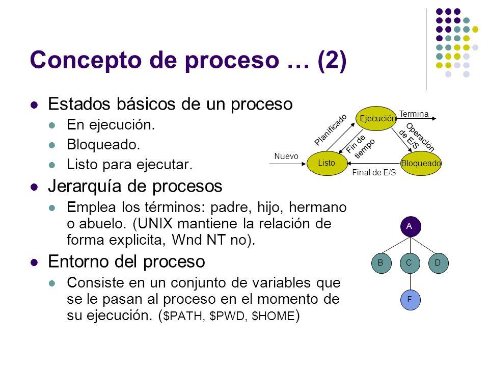 Concepto de proceso … (2)