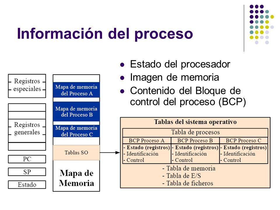 Información del proceso