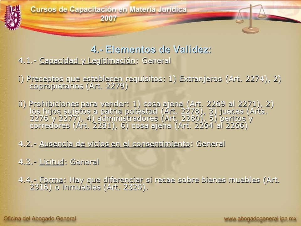 4.- Elementos de Validez: