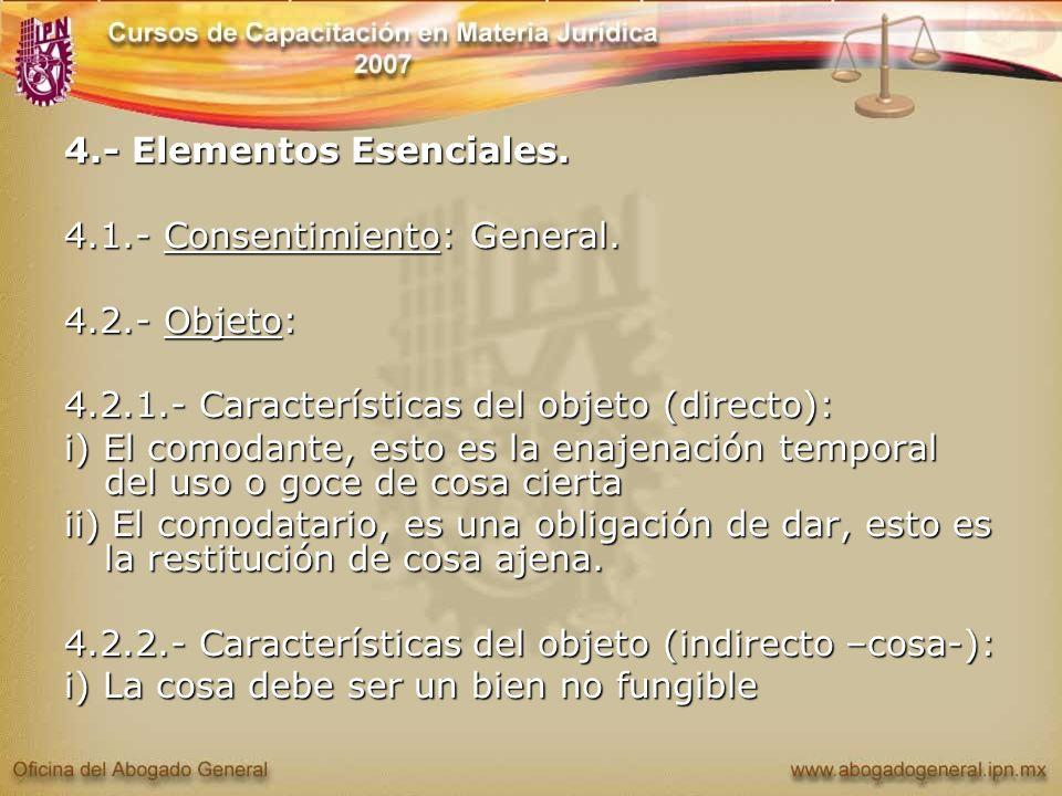 4.- Elementos Esenciales.