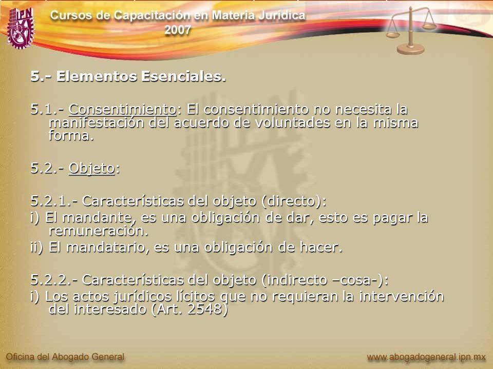 5.- Elementos Esenciales.
