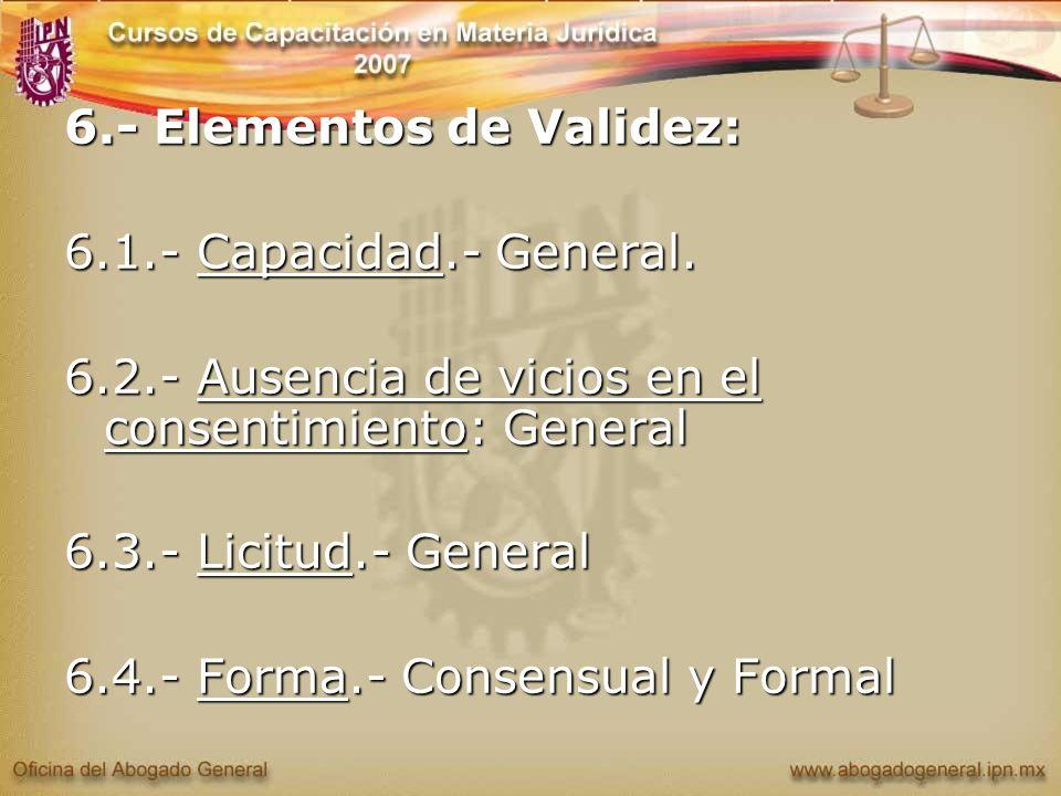 6.- Elementos de Validez: