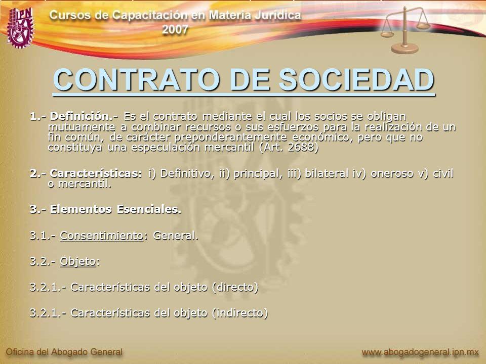 CONTRATO DE SOCIEDAD