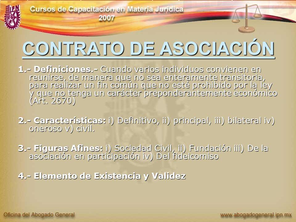 CONTRATO DE ASOCIACIÓN