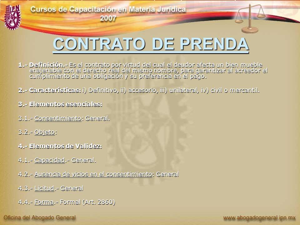 CONTRATO DE PRENDA