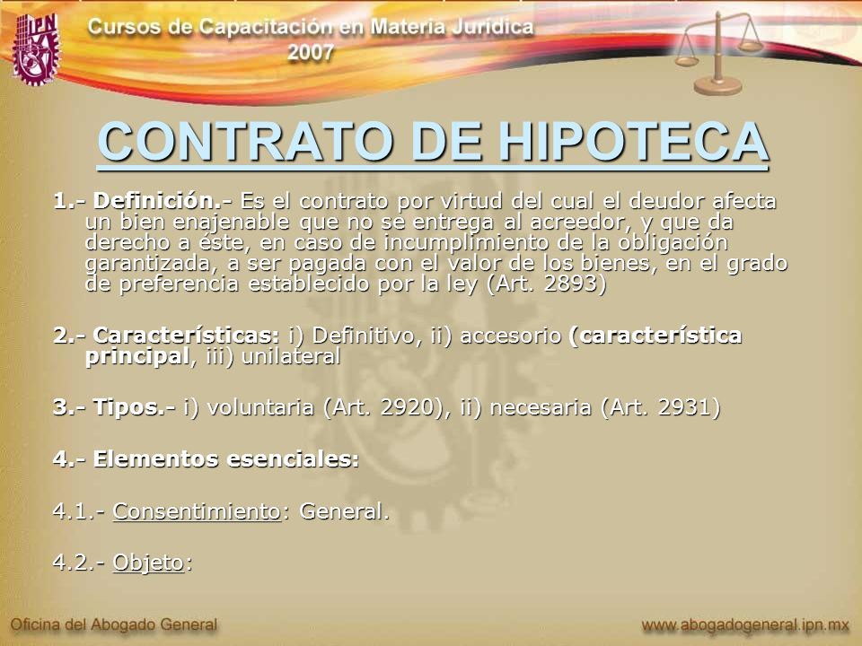 CONTRATO DE HIPOTECA