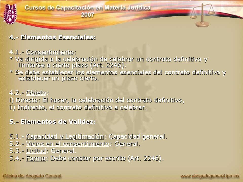 4.- Elementos Esenciales: