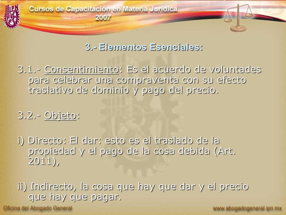3.- Elementos Esenciales:
