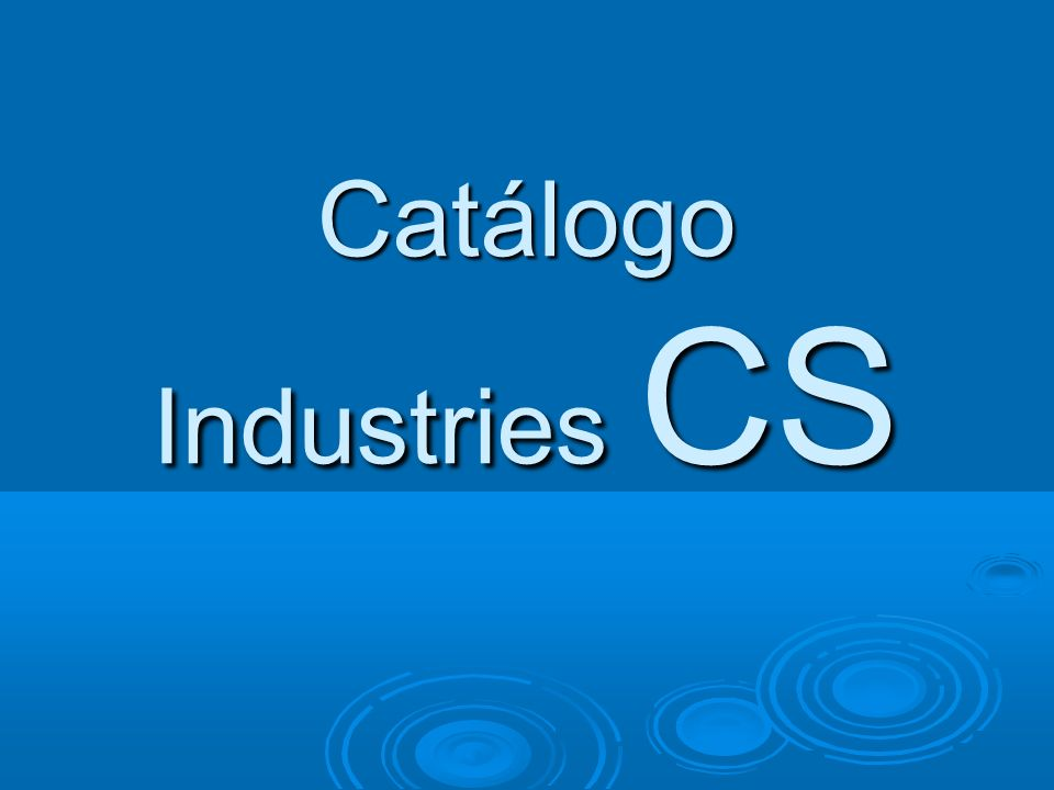 Catálogo Industries CS