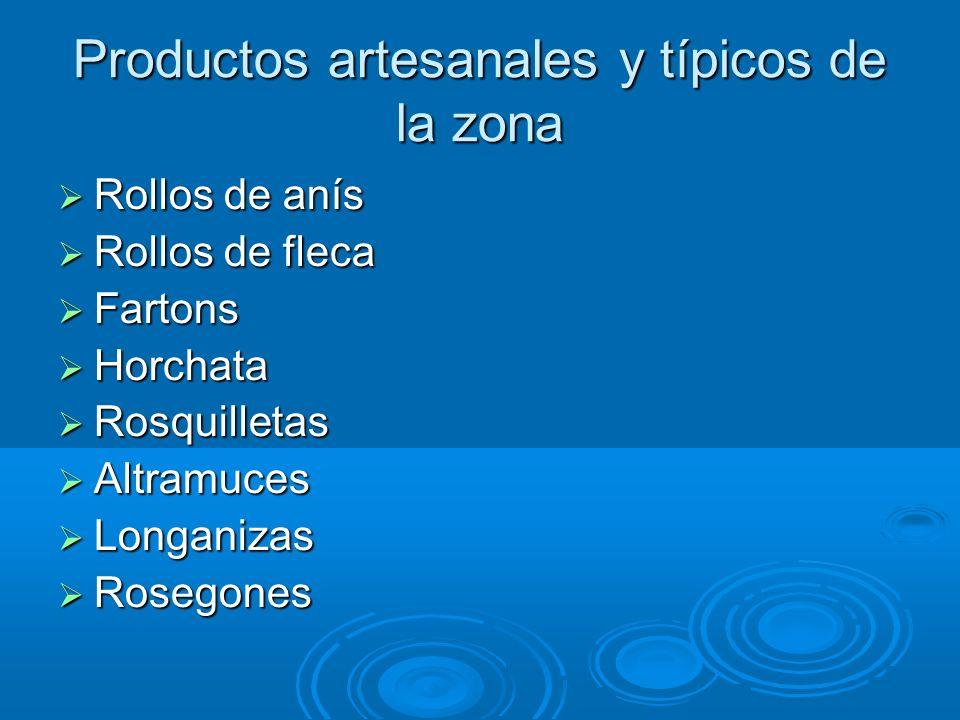 Productos artesanales y típicos de la zona