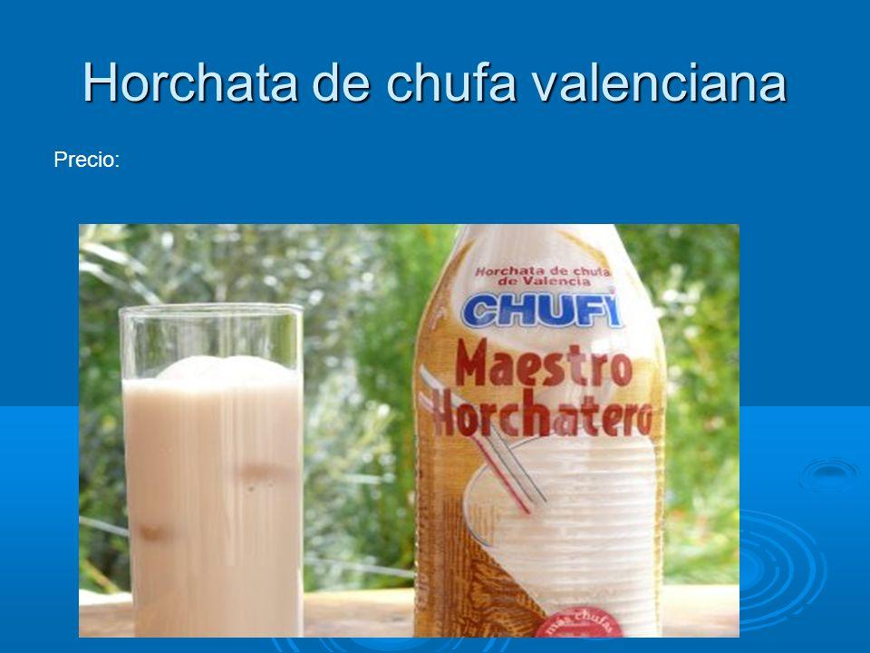 Horchata de chufa valenciana