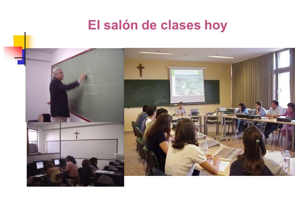El salón de clases hoy