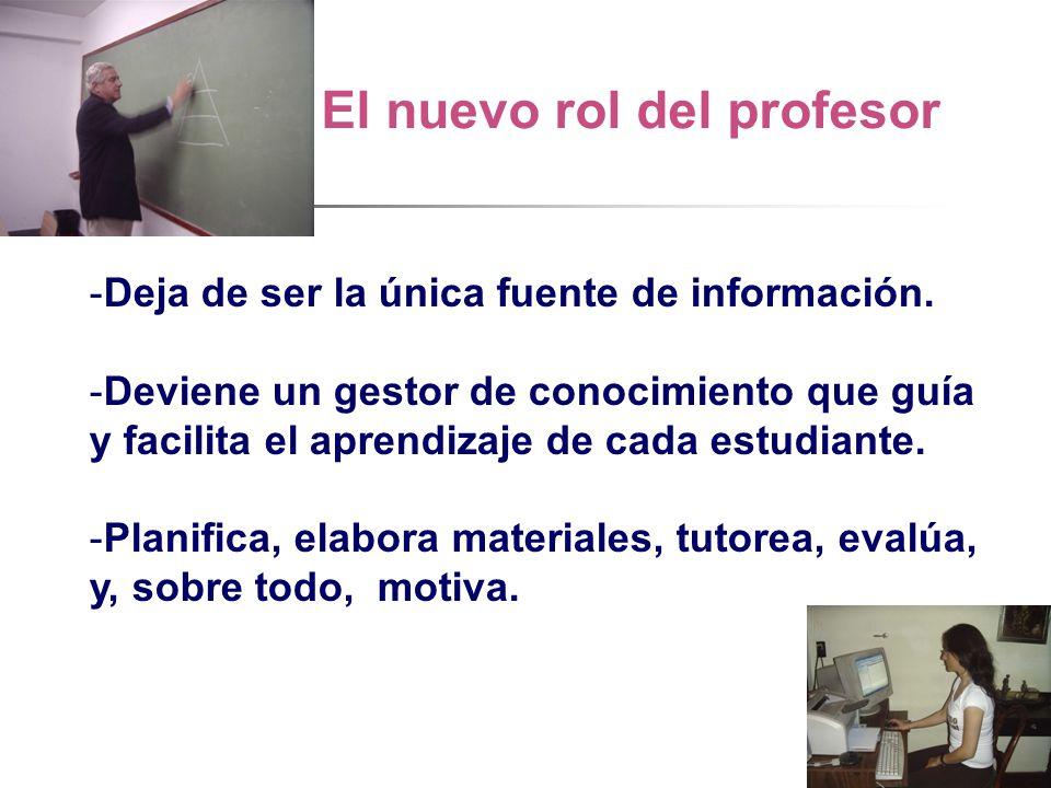 El nuevo rol del profesor